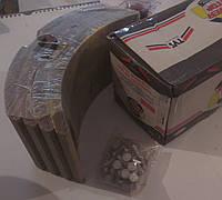 Накладка тормозная  с заклёпкой TVS TATA613