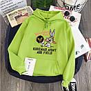 Модные толстовки для девушек худи с капюшоном теплая Bugs Bunny, фото 3