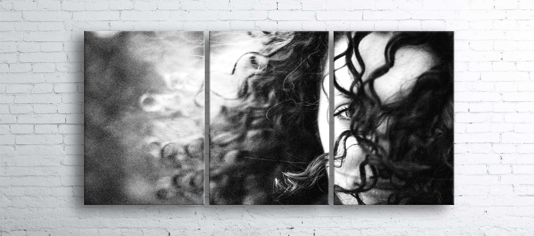 Модульная картина на холсте 3 в 1 Незнакомка 100х180 см