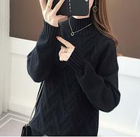 Теплый ажурный вязанный женский свитер размер 42-44