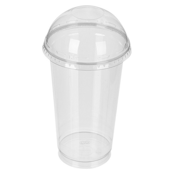 Стакан коктейльный без крышки 0.4л пластиковый прозрачный 50шт / уп