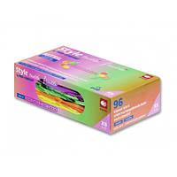 Рукавички нітрилові щільність 4 гр Tutti Frutti (кольорові ) Розмір: L +в ПОДАРУНОК Гель антисептик Avenir 200 мл