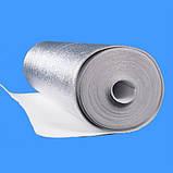 Полотно ППЕ 15 мм метализированое РЕТ (МРЕТ 9 мкм + ПЕ 10мкм) + липка прошарок 30 гр/м2, рулон 50 м. п., фото 2