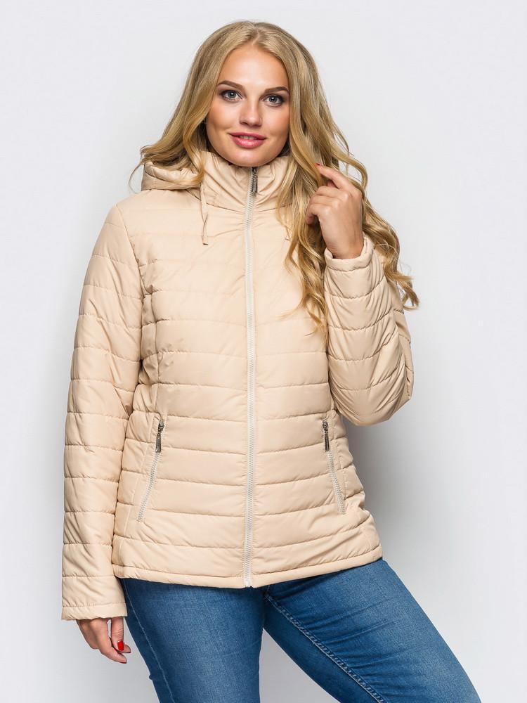 Демисезонная женская куртка большого размера