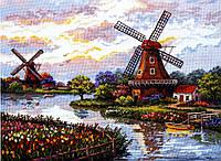 MEREJKA Набор для вышивания Голландские мельницы