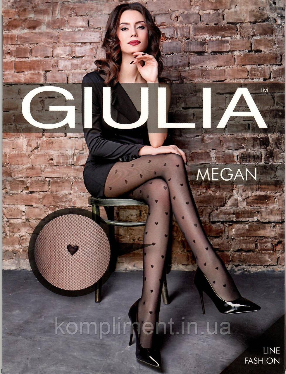 Колготки женские с рисунком сердечки GIULIA  MEGAN 40 model 1