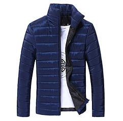 Стильна чоловіча куртка весна-осінь Hb10707a Розмір L, XL, темно синій