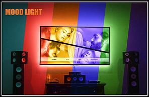 Светодиодные полосы  для  телевизоров 40-60in 2 метра TV, PANGTON VILLA USB LED TV Стартовый набор- 16 цветов