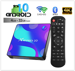 TV Box, X88 pro 10 Android 10.0 Smart Box 4GB RAM 32GB ROM RK3318 Четырехъядерный
