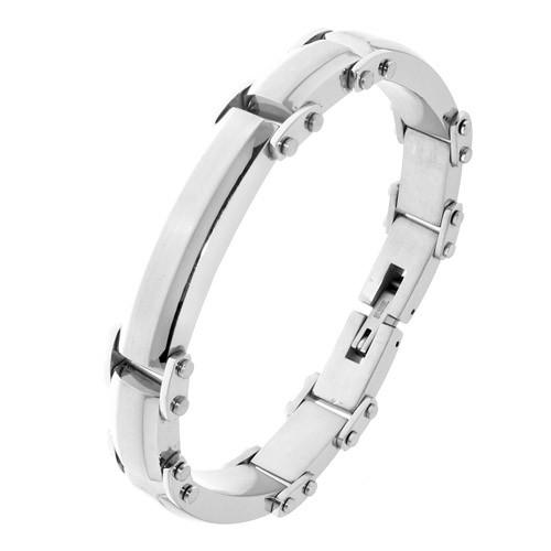 Чоловічий сталевий браслет для гравіювання на руку 176245