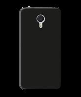 Чехол силиконовый матовый для Meizu M3, черный