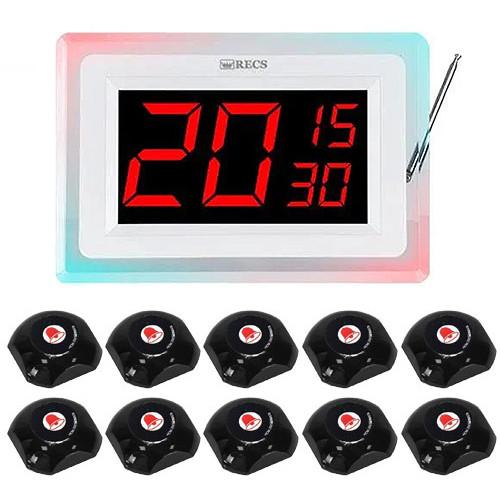 Система виклику офіціанта RECS №128   кнопки виклику офіціанта 10 шт + приймач викликів