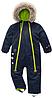 Зимний термокомбинезон Topolino Тополино для мальчика 80, 86, 92 см сдельный синий