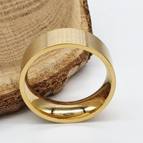Парні кільця для двох з медичної сталі 8 мм під золото матове 176249