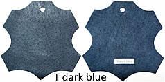 Кожа стелечная (подкладочная) воскованая цвет синяя (T dark blue)