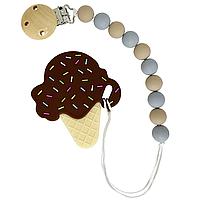 Цепочка с прорезывателем Мороженое (коричнивый)
