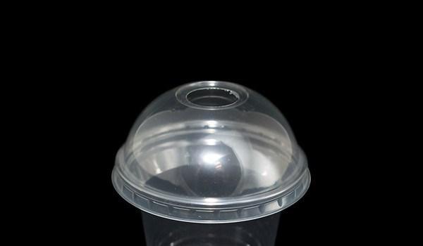 Крышка для пластиковых стаканов с отверстием под соломинку диаметр 10см 50шт / уп