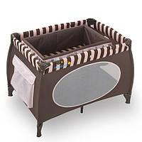 Манеж WonderKids Honeybee (шоколадный), удобный манеж-кровать
