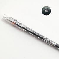Водостойкий карандаш для глаз flashliner от Soft touch # 68  блестящий черный