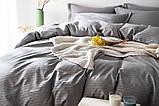 """Комплект постельного белья двуспальный ТМ """"Ловец снов"""", Страйп сатин грей, фото 2"""