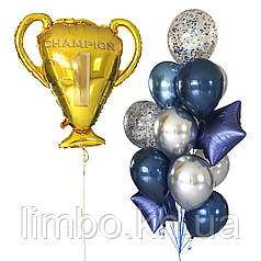 Мужские шары с кубком для настоящего Чемпиона
