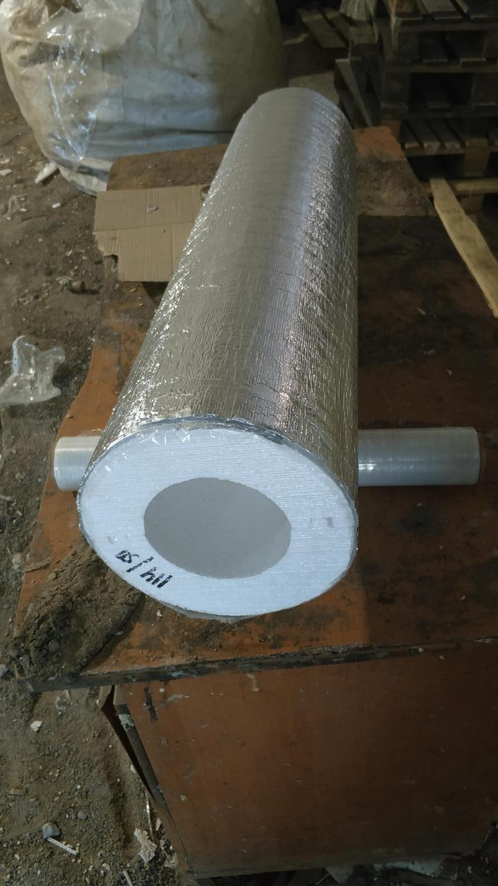 Утеплитель для труб из пенопласта (пенополистирола) для труб Ø 150 мм толщиной 30 мм фольгированный