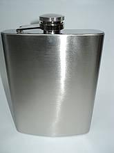 Классическая фляга из нержавейки 0.5 литра. Фляга из нержавеющей стали.