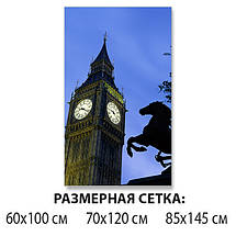 Виниловая наклейка на стол Часы Биг Бена Лондон самоклеющаяся декоративная пленка, синий 60 х 100 см, фото 2