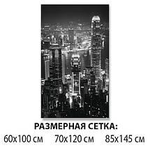 Виниловая наклейка на стол Ночной город черно-белый самоклеющаяся пленка с ламинацией, серый 60 х 100 см, фото 2