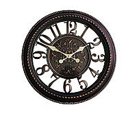 Часы в стиле ретро, винтажные, настенные кварцевые, диаметр 40 см.