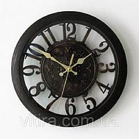 "Часы настенные 3D винтажные. Объемные часы ""Бронза"". Диаметр 28 см."