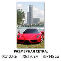 Декоративная наклейка на стол Суперкар Пальмы машина виниловая пленка самоклейка транспорт красный 60 х 100 см, фото 2