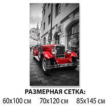 Декоративная наклейка на стол Алый Олдкар машина виниловая пленка самоклейка, транспорт, красный 60 х 100 см, фото 2
