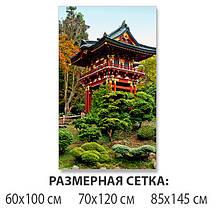 Виниловая наклейка на стол Японский сад и Храм самоклеющаяся декоративная пленка, Восток, зеленый 60 х 100 см, фото 2