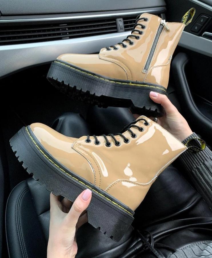 "Ботинки Dr. Martens Jadon Patent ""Бежевые"""