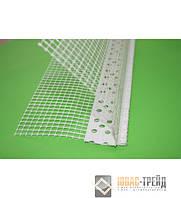 Уголок PCV перфорированный с сеткой, 3 м (пластиковый)