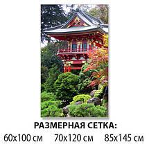Виниловая наклейка на стол Пышная Япония самоклеющаяся декоративная пленка, Восток Азия, зеленый 60 х 100 см, фото 2