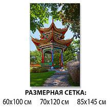Виниловая наклейка на стол Восточный храм Япония самоклеющаяся декоративная пленка, Азия, зеленый 60 х 100 см, фото 2