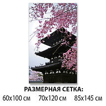 Виниловая наклейка на стол Китай и Сакура самоклеющаяся декоративная пленка архитектура коричневый 60 х 100 см, фото 2