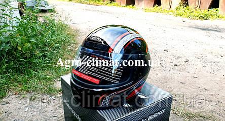 Шлем для мотоцикла черный с красным Virtue 03 взрослый размер М, фото 2