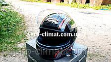 Шлем для мотоцикла черный с красным Virtue 03 взрослый размер М, фото 3