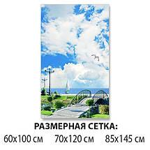 Виниловая наклейка на стол Облака над Гордом декоративная пленка самоклеющаяся, голубой 60 х 100 см, фото 2