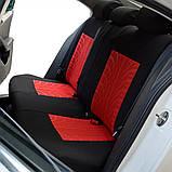 Полный комплект Чехлы на сиденья авто универсальные красного цвета материал полиэстер, фото 8