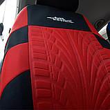 Полный комплект Чехлы на сиденья авто универсальные красного цвета материал полиэстер, фото 4