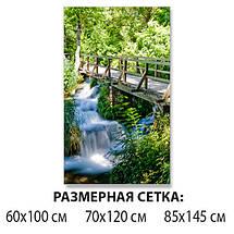 Виниловая наклейка на стол Деревянный мост через реку декоративная пленка самоклеющаяся, зеленый 60 х 100 см, фото 2