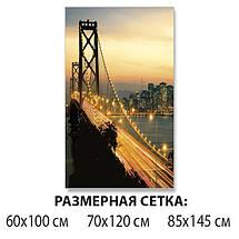 Виниловая наклейка на стол Раннее Утро над мостом самоклеющаяся пленка с ламинацией, бежевый 60 х 100 см, фото 2