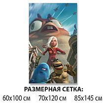 Детская виниловая наклейка на стол Большой отрыв Боба, самоклеющаяся пленка декоративная, голубой 60 х 100 см, фото 2