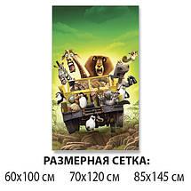 Детская виниловая наклейка на стол Мадагаскар мультфильм, самоклеющаяся пленка, зеленый 60 х 100 см, фото 2