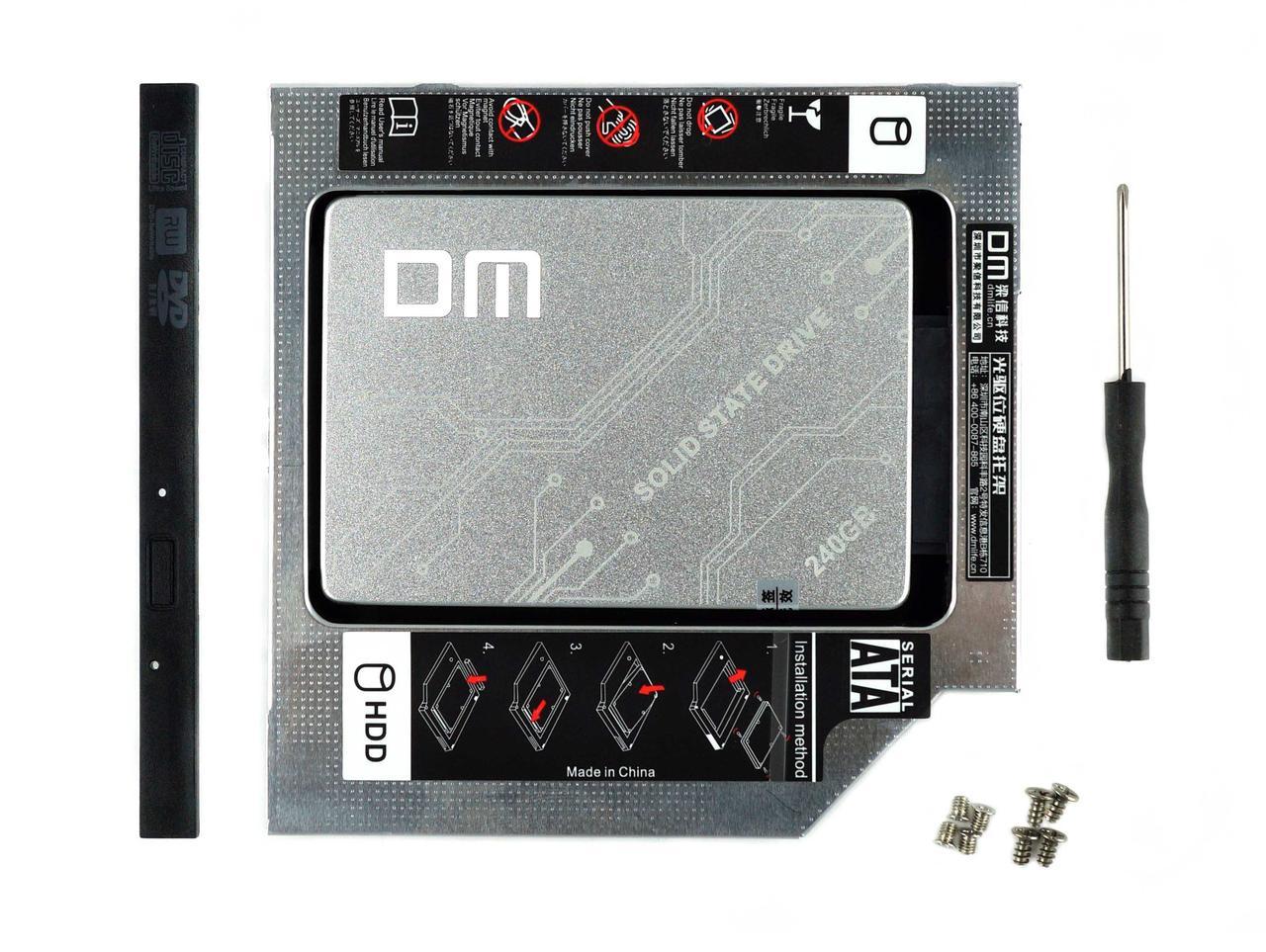ССД диск з адаптером в ноутбук замість приводу