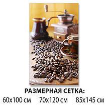 Виниловая наклейка на стол Утренний кофе Зерна, ламинированная пленка для кухни, коричневый 60 х 100 см, фото 2